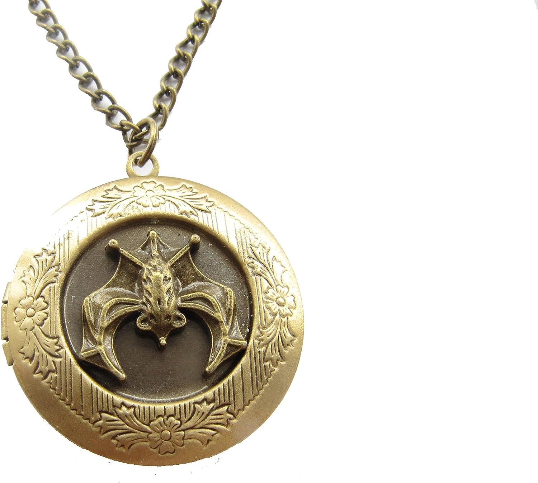 Don't miss the campaign Beautiful Bat Locket Bronze Classic Hal Antique