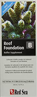 Red Sea Fish Pharm ARE22023 Reef Foundation Buffer Supplement-B for Aquarium, 500ml, Package may vary