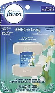 Febreze Sleep Serenity Bedside Diffuser, Set & Refresh, Quiet Jasmine (2 Count, 5.5 Ml Each)