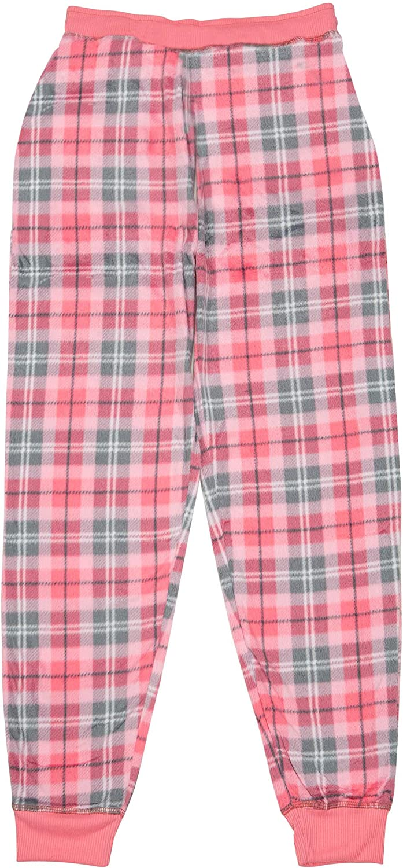 7-14 North 15 Girls Super Cozy Plaid Mink Fleece Pajama Bottom with Waist /& Bottom Rib