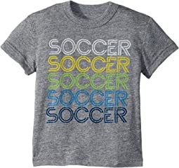 Soccer!! Tri-Blend Crew Neck Short Sleeve Tee (Toddler/Little Kids)