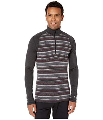 Smartwool NTS Mid 250 Pattern Zip T (Charcoal Margarita) Men