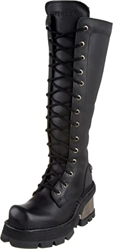 New Rock Metallic schwarz Cuero Stiefel M.236-S1