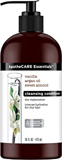 ApotheCARE Essentials The Replenisher Moisturizing Cleansing Conditioner, Vanilla, Argan Oil, Sweet Almond, 16 oz