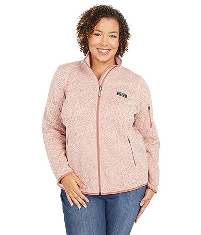L.L.Bean Plus Size Sweater Fleece Full Zip Jacket (Adobe Rose) Women