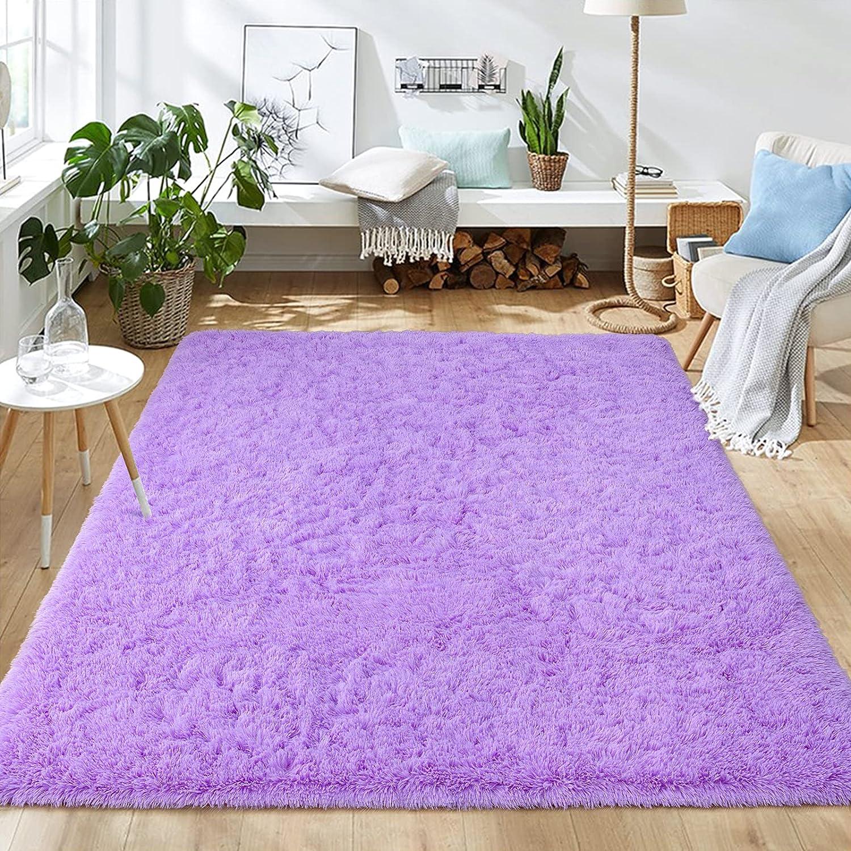 Sinaliy Ultra 直営ストア Soft Shaggy Rugs Fluffy Carpet Kid Girls for 新発売 Room