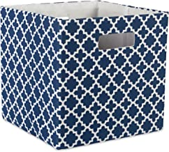 """DII Hard Sided Collapsible Fabric Storage Container for Nursery, Offices, & Home Organization, (13x13x13"""") - Lattice Nauti..."""