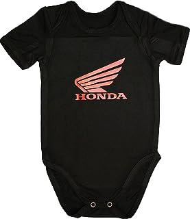 e269277a879ab Honda Body Moto bébé Unisexe Noir Manches Courtes garçon Fille Autocollants  Coton Peigné