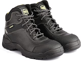 Wild Bull Men's Leather Safety Shoes Protector Plus Hi-Ankle Length Black (7)