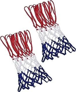 Red de Baloncesto de 12 Bucle de Tarea Pesada Adecuada Aro de Baloncesto Interior o Exterior Estándar (Rojo/Blanco/Azul)