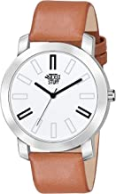 Swadesi Stuff Analogue White Dial Leather Strap Watch for Men and Boy
