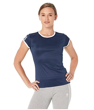 adidas Club 3-Stripes Tee (Collegiate Navy) Women