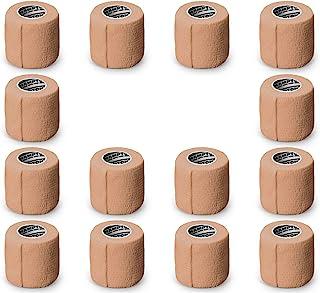 Hampton Adams (14-Pack) 2 X 5 Yards | Beige Self Adhesive Bandage Wrap Breathable Self Adherent Wrap for People & Pets - f...