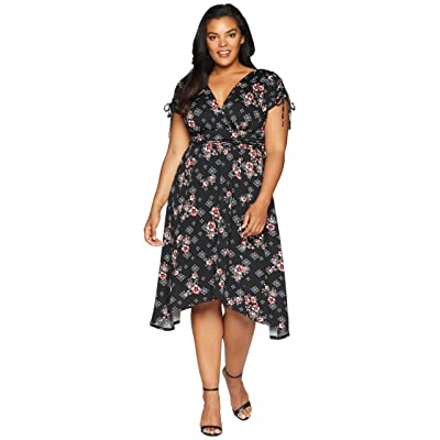 Kiyonna Tessa Ruched Dress (Crimson Rose) Women