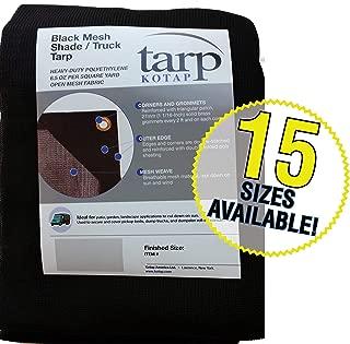 Kotap 10-ft x 16-ft Heavy-Duty 6.5 Oz Black Mesh Shade/Truck Tarp, Item: MESH-1016