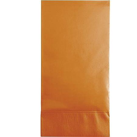 Pumpkin Spice Plain Solid Color Paper Disposable Dinner Guest Hand Towels Napkins