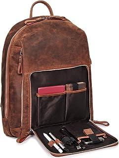 DONBOLSO Rucksack Sydney I Leder für Damen und Herren I Daypack I 17 Liter I Vintage Braun