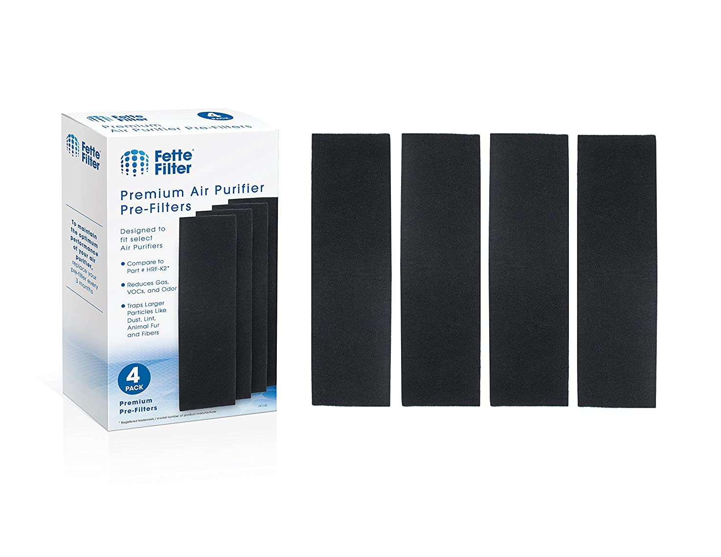 Fette Filter - Air Purifier Filter Compatible with Honeywell HRF-K2. Pack of 4