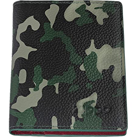 Zippo Leather Credit Card Holder Credit Card Case, 10 cm;,Green Camouflage