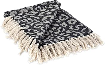 DII CAMZ38918 Modern Cotton Luxury Print Blanket Throw with Fringe For Chair, Couch, Picnic, Camping, Beach, Everyday, 50 ...