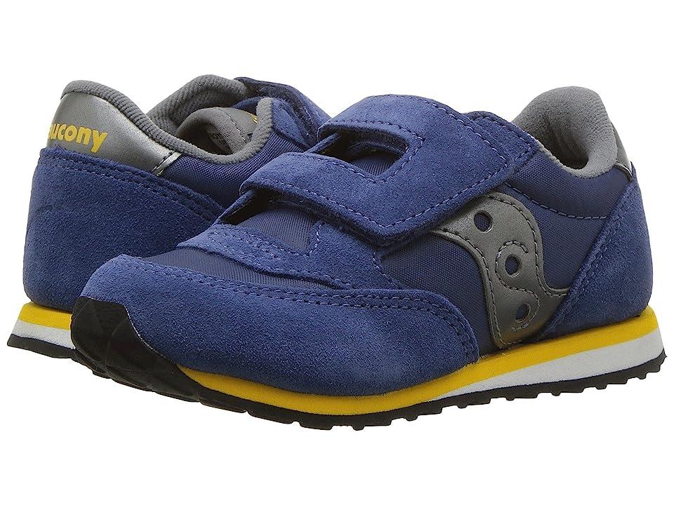 Saucony Kids Originals Jazz Hook Loop (Toddler/Little Kid) (Blue/Grey) Boys Shoes