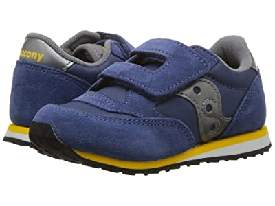 Saucony Kids Originals Jazz Hook Loop (Toddler/Little Kid) (Blue/Grey) Boys Shoes