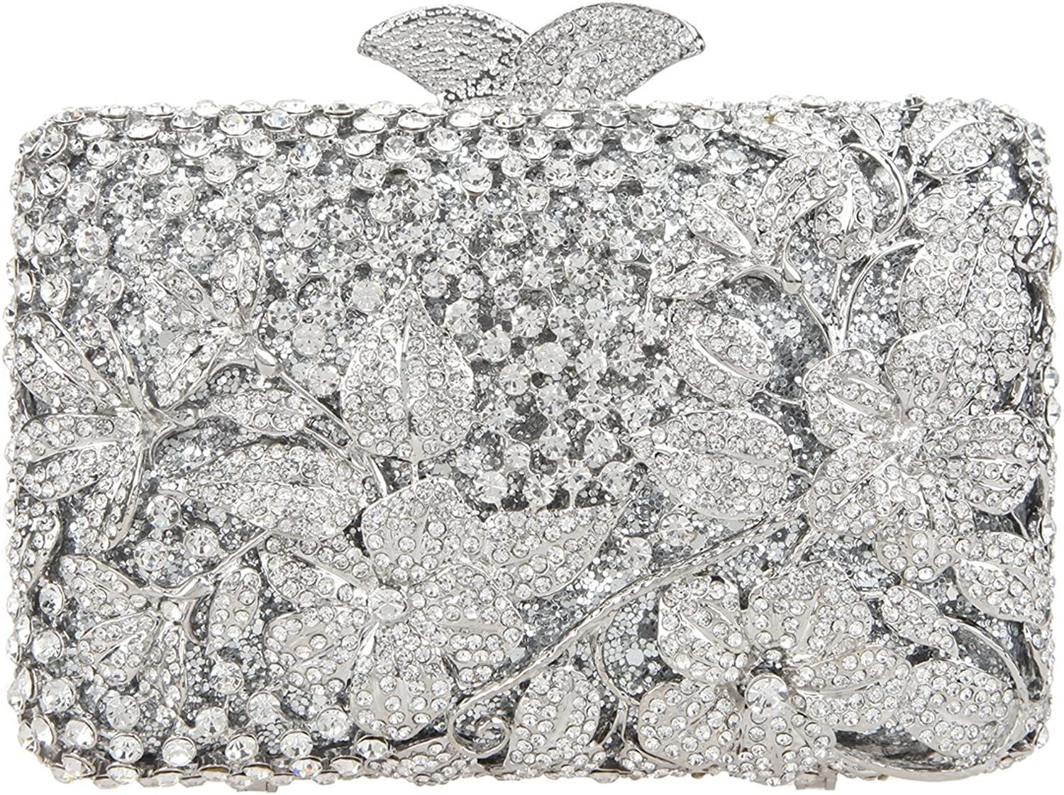 Ainemay Dazzling Flower Clutch Purses for Girls Crystal Clutches Evening Bags