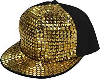 heymei New Flat Hat Baseball Cap Hip-hop Hats Fashion Sequins