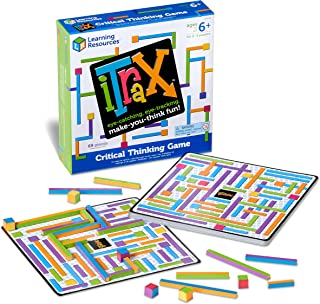 Learning Resources iTrax Critical Thinking Game, Problem Solving, Homeschool, 69 Pieces, Ages 6+,Multi-color