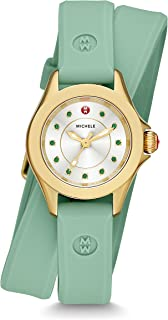 MICHELE Women's Cape Mini Quartz Stainless Steel Dress Watch (Model: MWW27B000002)