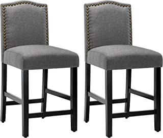 Lssbought Set Of 2 Fabric Barstools