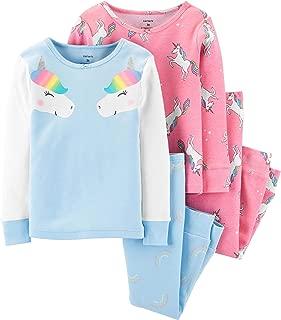 Girls' 4-Piece Snug Fit Cotton Pajamas