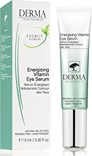 Anti Ageing Eye Serum with Vitamin E & Aloe Vera for Dark Circles, Puffiness - Works against Eye Wrinkles - Clinically tested with all natural ingredients - For all Skin types - Made in the UK - 15ml