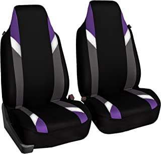 FH Group FB133PURPLE102 Bucket Seat Cover (Supreme Modernistic Airbag Compatible (Set of 2) Purple)