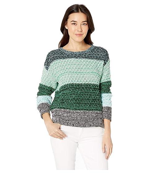 Long Sleeve Color Block Crew Neck Sweater