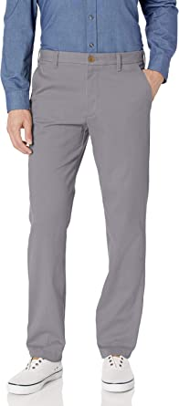Izod Men's Advantage Performance Flat Front Straight Fit Chino Pant Casual