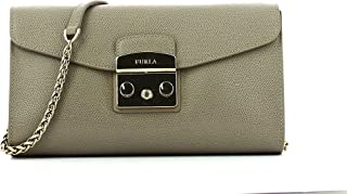 Furla Metropolis Ladies Small Sabbia Leather Crossbody Bag 962804