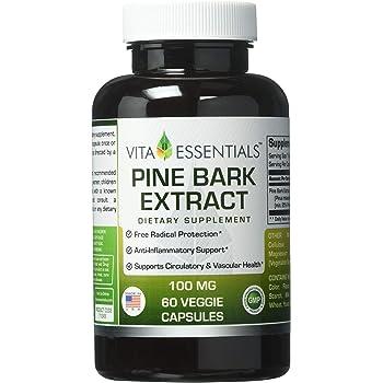 Vita Essentials Pine Bark Extract 100 Mg Veggie Capsules, 60 Count
