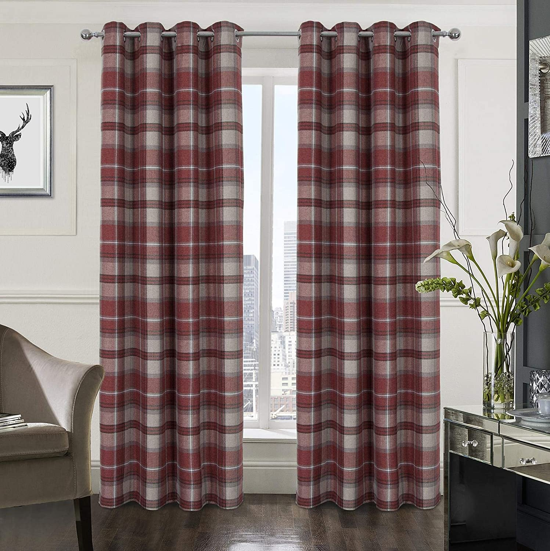 Plaid Tartan New arrival Check Elegant Modern Classic Treatment Curtain Drape Window