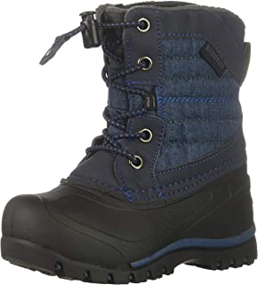 Northside Boys' Calgary Snow Boot Navy 5 Medium US Toddler