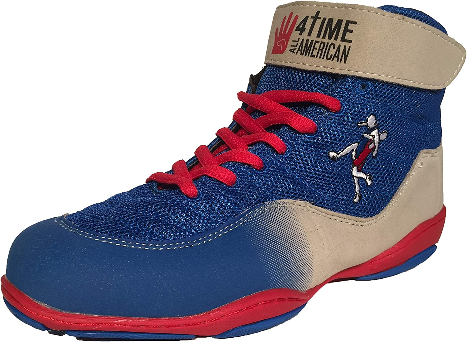 4-Time All American The Patriot, bluee Wrestling shoes Youth Sizes 1-6