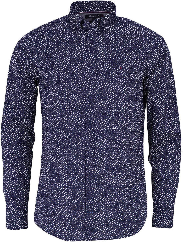 Tommy Hilfiger Slim Fit Hemd Langarm geknöpft Muster dunkelblau B07M8SPTYG  Eigenschaften