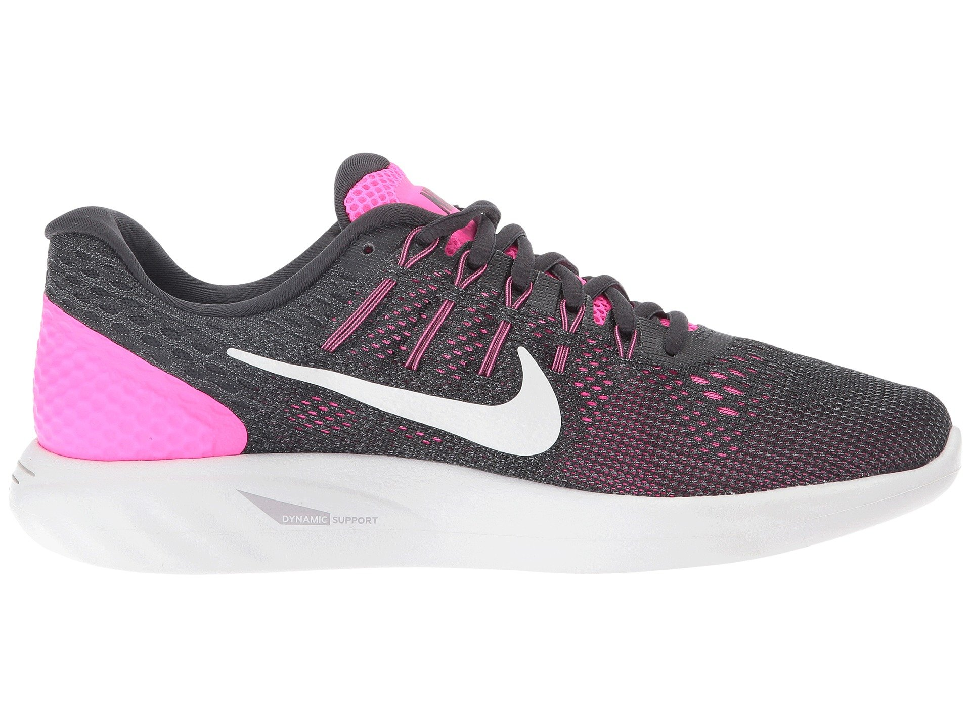 Nike Women S Lunarglide Hot Pink Black And Green Athletic Shoes