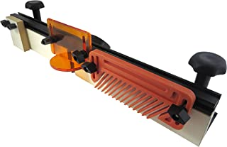 Taytools 300015 Deluxe 32 Inches Long Router Table Fence 3-1/2 Inches Tall Anodized Aluminum with Feather Board, Bit Guard, Adjustable Stop and Dust Port