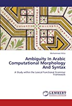 Ambiguity In Arabic Computational Morphology And Syntax: A Study within the Lexical Functional Grammar Framework