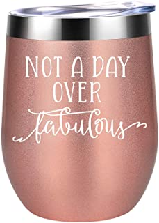 Not a Day Over Fabulous - Funny Birthday Wine Gifts Ideas for Women, Wife, Mom, Mother in Law, Daughter, Sister, Aunt, Bes...