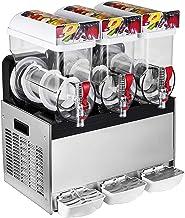 VEVOR 3x15L Machine à Granita Professionnelle 3 Cuves Slush Machine Machine Commerciale Electrique de Neige Fondue pour la...