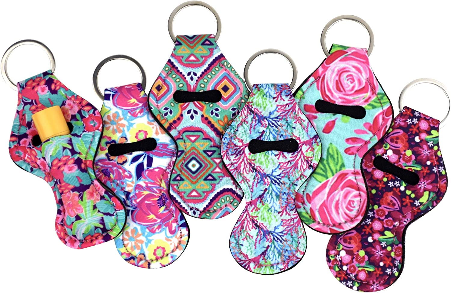 The Original Chapstick Holder Keychain, Cute Keychains for Lip Balm Holder (Multicolor 6 Pack) : Clothing, Shoes & Jewelry