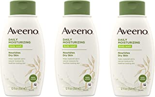 Aveeno Daily Moisturizing Body Wash with Soothing Oat, Creamy Shower Gel, Soap-Free and Dye-Free, Light Fragrance, 12 fl. ...