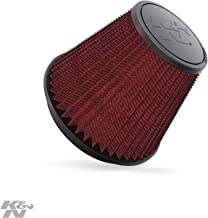 K&N Universal Clamp-On Engine Air Filter: Washable and Resuable: Round Tapered; 6 in (152 mm) Flange ID; 6 in (152 mm) Height; 7.5 in (191 mm) Base; 4.5 in (114 mm) Top , RF-1048
